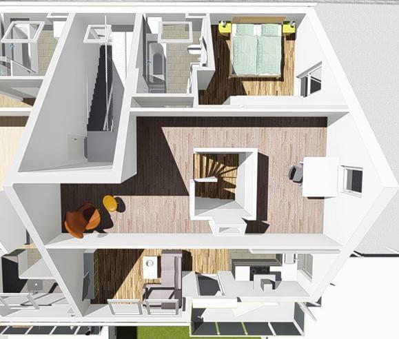 wohnung 4 im dg 5 familienwohnhaus n gele bau neu ulm. Black Bedroom Furniture Sets. Home Design Ideas