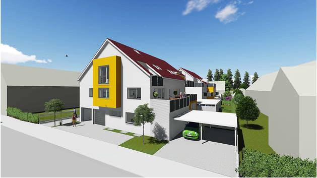 neubau eine 5 6 fam hauses eigentumswohnung in burlafingen kaufen. Black Bedroom Furniture Sets. Home Design Ideas