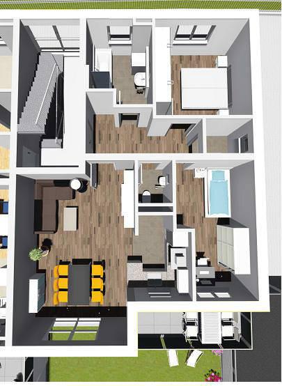 wohnung 2 im 1 og 5 familienwohnhaus n gele bau neu ulm. Black Bedroom Furniture Sets. Home Design Ideas